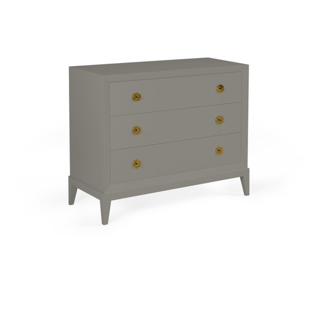 Transitional Casa Cosima Hayes Chest, Chelsea Gray For Sale - Image 3 of 3
