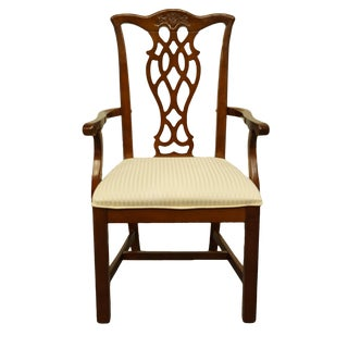 Late 20th Century Universal Furniture Chippendale Style Arm Chair For Sale