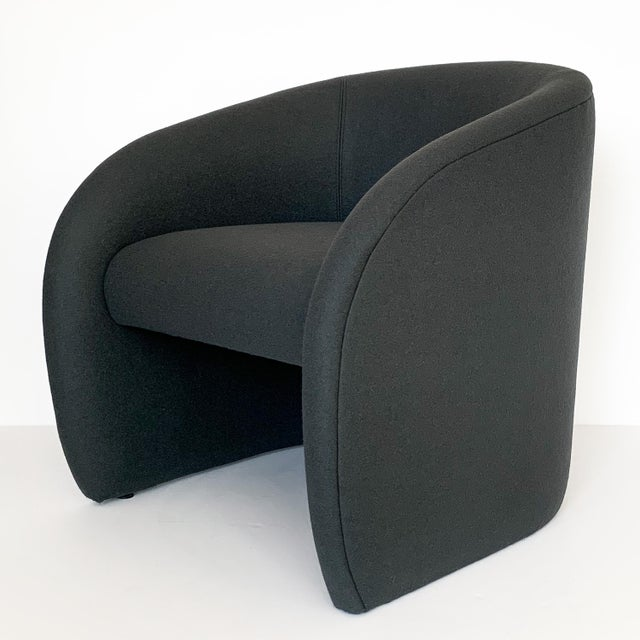 Pair of Directional Fully Upholstered Barrel Lounge Chairs For Sale - Image 10 of 13