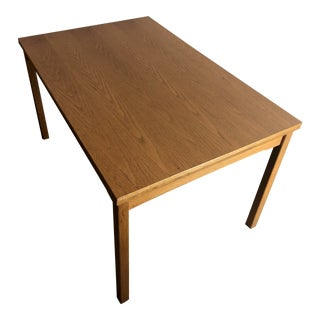 Vintage Mid Century Modern Danish Draw Leaf Dining Table For Sale