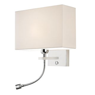 Polished Chrome Wall Light With Led Reading Light For Sale