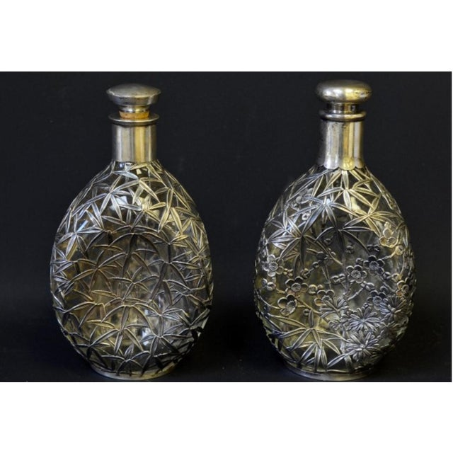 Silver Overlay Pinch Decanters - A Pair - Image 2 of 7