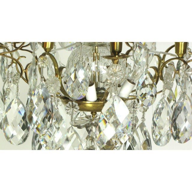 Late 18th Century Swedish 18th Century Rococo Chandelier For Sale - Image 5 of 6