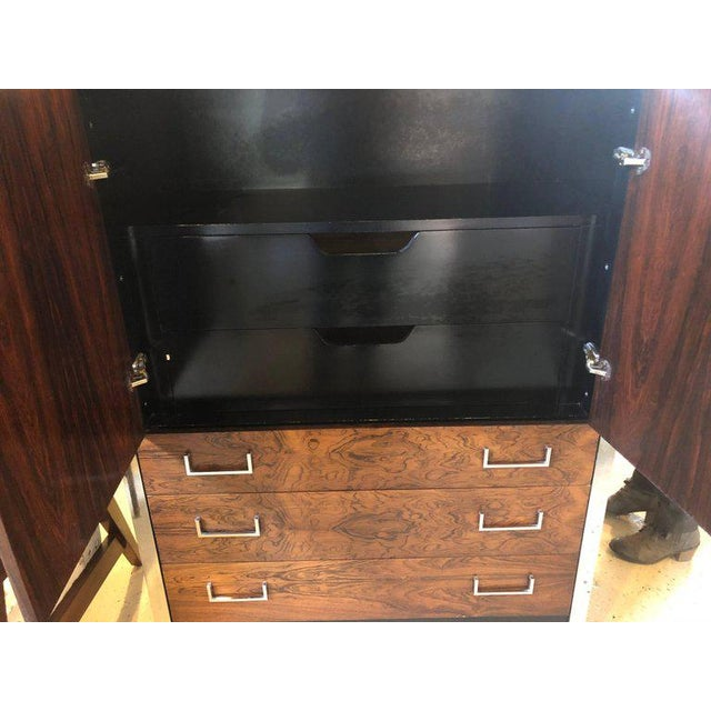 Milo Baughman for John Stuart Mid-Century Modern Ebony High Chest Commode - Image 5 of 11