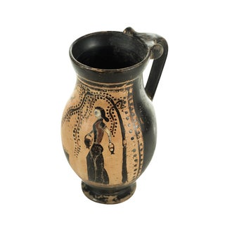 Ancient Greece Pottery Vase With Black Figure For Sale