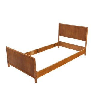 Pair of Walnut Gibbings Twin Beds For Sale
