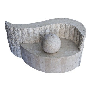 Magnussen Presidential Tessellated Marble Coffee Table Base For Sale