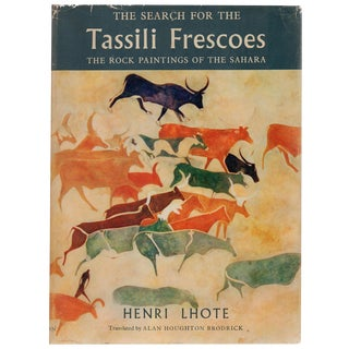 """""""The Search for the Tassili Frescoes"""" Book By Henri Lhote For Sale"""