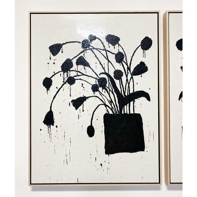 "Exclusive John O'Hara ""Botanical, 10"" Encaustic Paintings (2-Panel) For Sale In Saint Louis - Image 6 of 8"