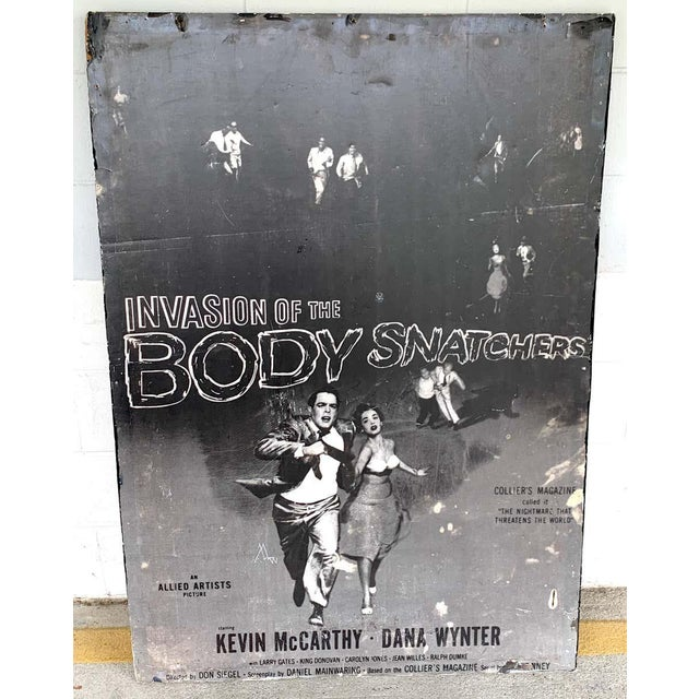 Invasion of the Body Snatchers, black & white movie theatre poster, 1956 A rare poster, color versions are available,...