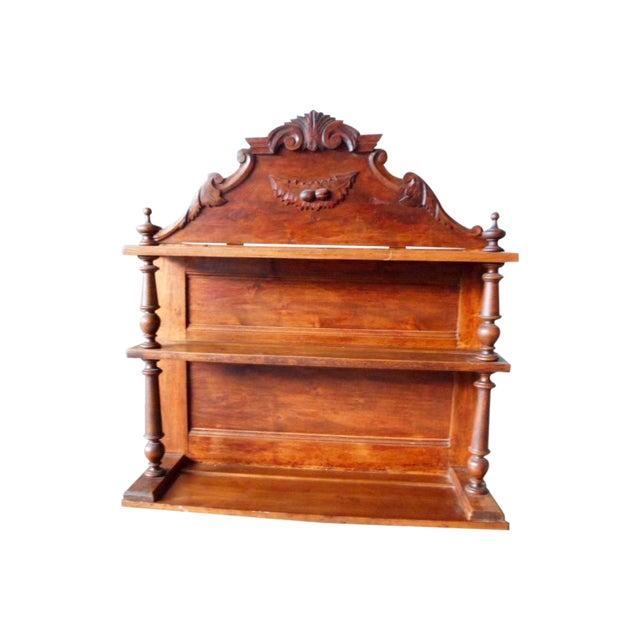 Antique Solid Hand Carved Antique Bookshelf - Image 1 of 5