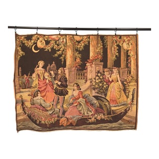Belgian Vintage Victorian Tapestry For Sale