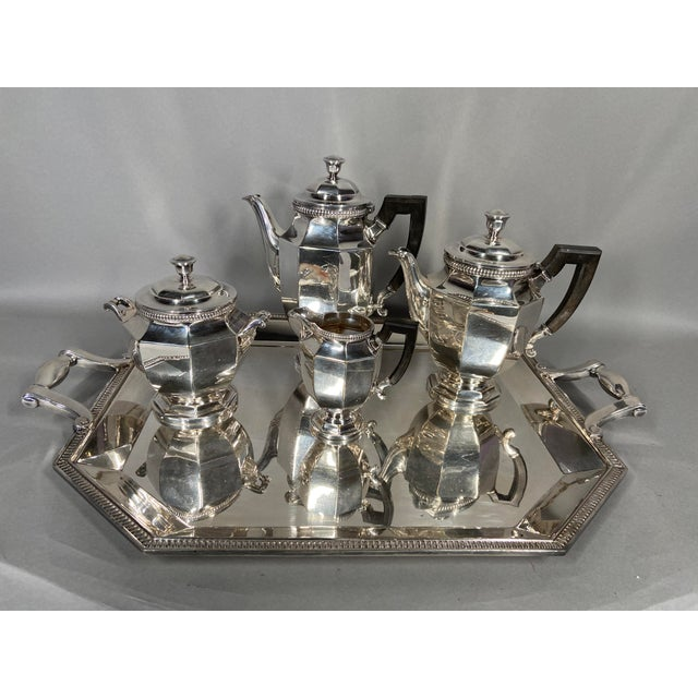 Antique 19th Century Christofle Silver-Plated Tea Set - Set of 5 For Sale - Image 10 of 11
