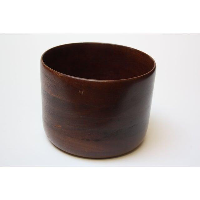 """Danish Modern teak salad / decorative bowl. Smaller size, but large enough for serving (7.6"""" diameter). Nice, vintage..."""