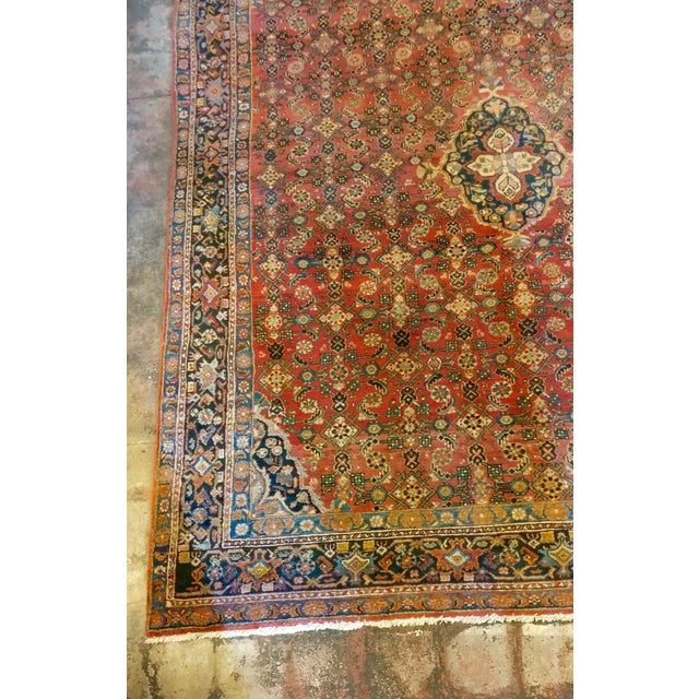 Vintage Persian Sarouk Rug- size 9x10 ft For Sale - Image 4 of 11