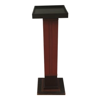 Early 20th Century Solid Wood Pedestal For Sale