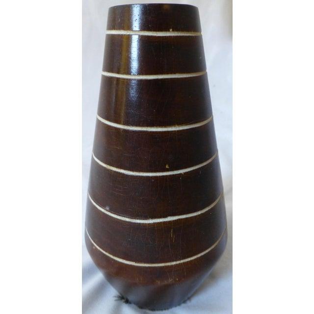 Wood 1950's Tiki Hawaiian Style Wooden Vase For Sale - Image 7 of 13