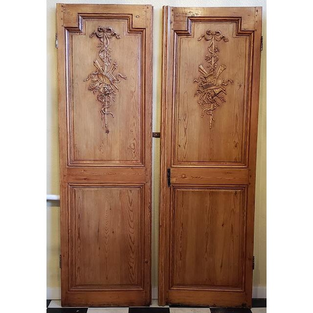 Mid 19th Century French Pine Carved Door Panels C.1870 For Sale - Image 11 of 11