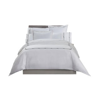 Saint-Tropez Embroidered Duvet Cover King - Anthracite/Greystone For Sale