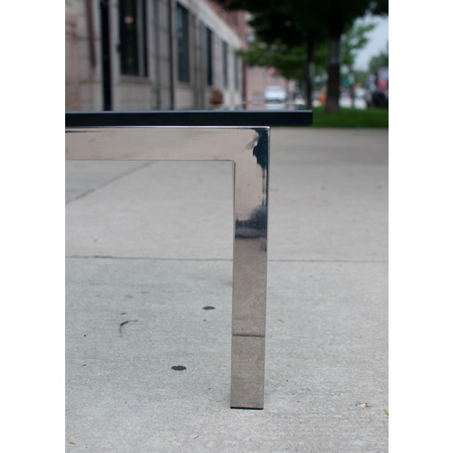 Milo Baughman Chrome & Glass Coffee Table - Image 4 of 6
