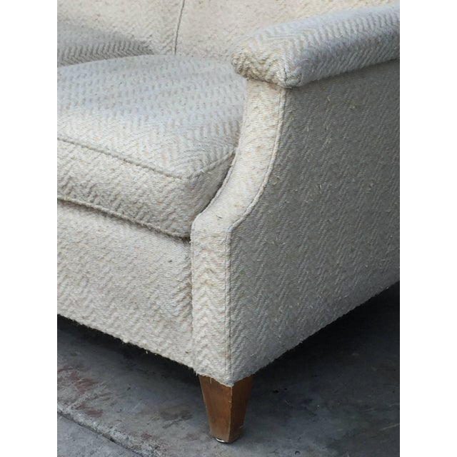 Maison Leleu 1950s Vintage French Sofa For Sale - Image 4 of 7