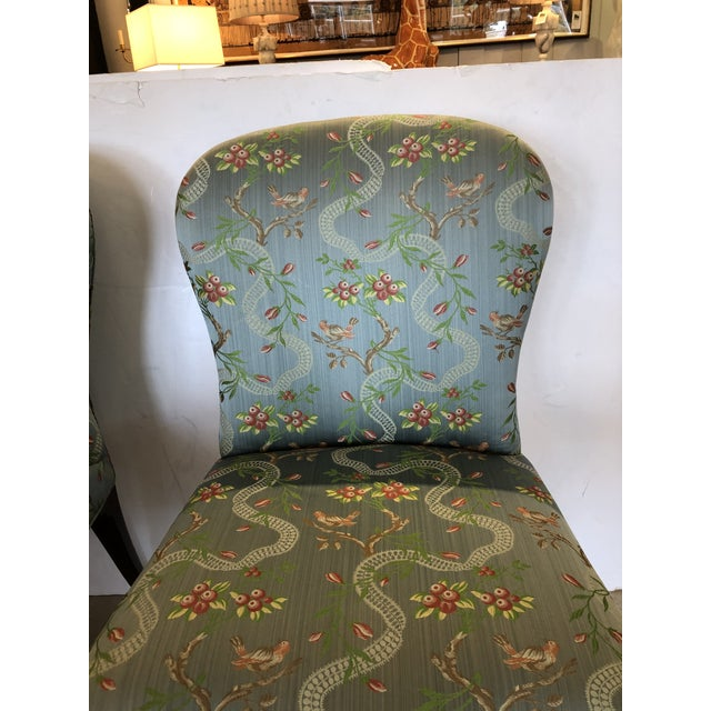 Wood 18th Century Georgian Side Chairs Dressed Up in Scalamandre Upholstery -A Pair For Sale - Image 7 of 13