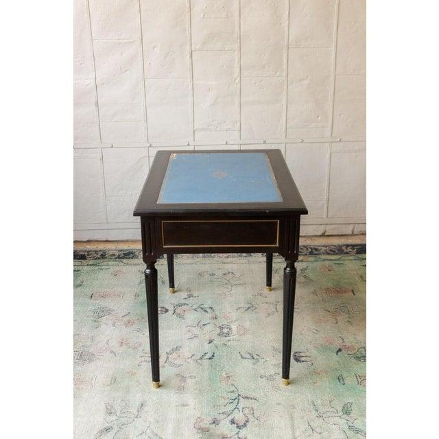 French 1920s French Ebonized Mahogany Writing Desk For Sale - Image 3 of 13