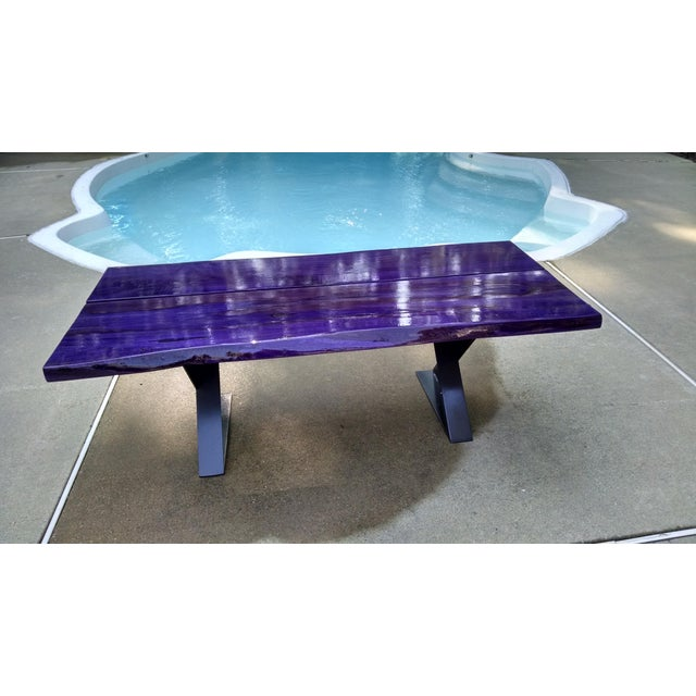 Modern Planked Table - Image 2 of 5