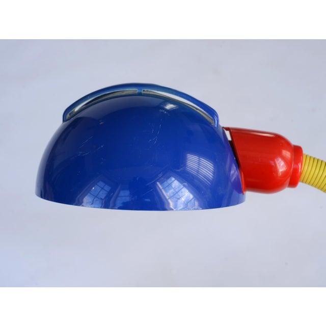 Vintage 1980s Postmodern Memphis Style Tricolor Plastic Desk Lamp For Sale - Image 11 of 12
