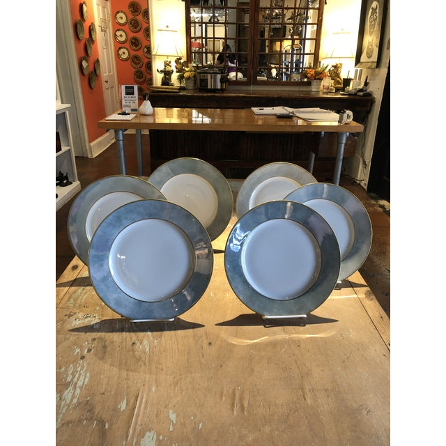 Set of Six Galuchat Plates by Manuel Canovas for Puiforcat For Sale - Image 13 of 13