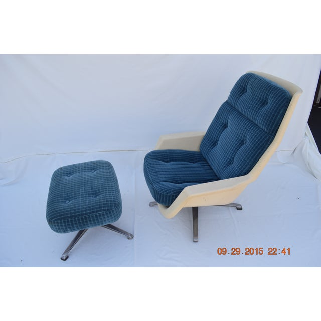 Molded Chair & Ottoman - Image 2 of 11