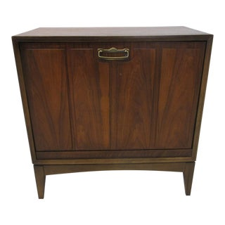Walnut Pull Down Record Cabinet by Lane Altavista For Sale