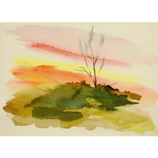 Sunset Watercolor Painting For Sale