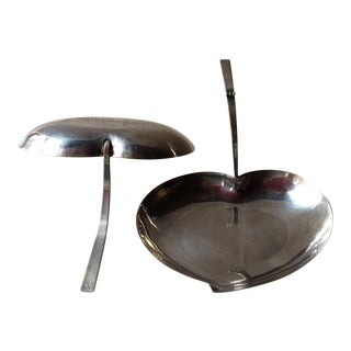 Royal Hickman Mid-Century Modern Silverplate Serving Pieces- 2 Piece For Sale