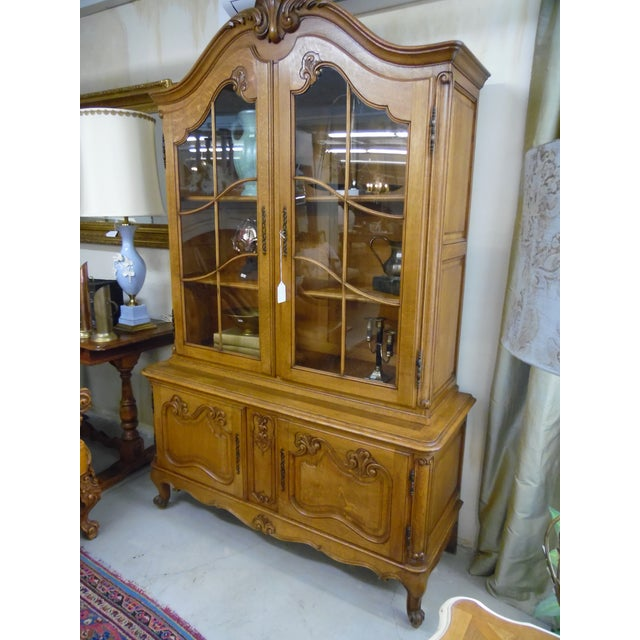 Beautiful French 2 Piece China Cabinet in excellent shape. 4 Doors.