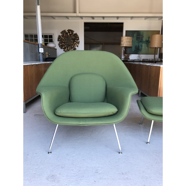 Reupholstered! Knoll Womb Chair Ottoman Eero Saarinen For Sale - Image 10 of 13