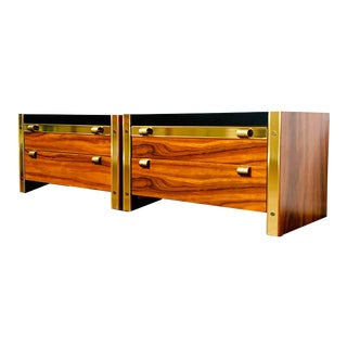 1980s Danish Modern Platform Nightstands - a Pair For Sale
