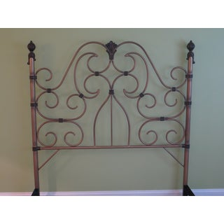 Vintage Victorian Style Metal High Back Queen Size Bed Frame Preview