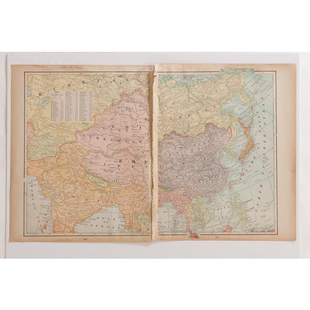 American Cram's 1907 Map of Holy Land For Sale - Image 3 of 9