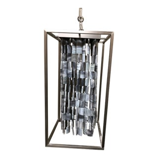 Alex Stone Tile Pendant by Fuse Lighting For Sale