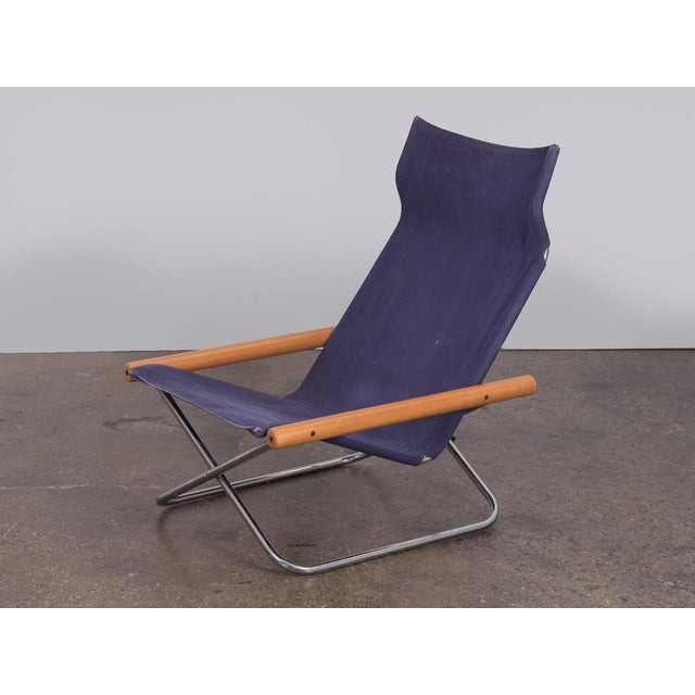Mid-Century Modern NY Folding Sling Chair by Takeshi Nii For Sale - Image 3 of 10