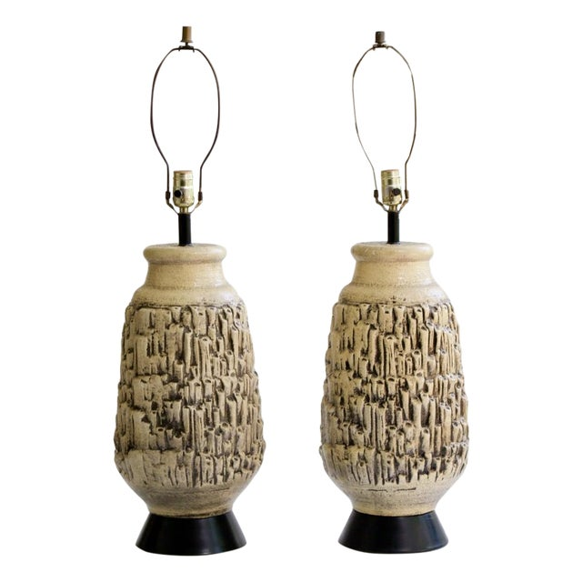 Mid-Century Ceramic Coral Lamps - A Pair - Image 1 of 5