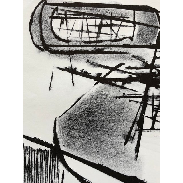 Lithograph Jerry Opper Mid Century Abstract Stone Lithograph For Sale - Image 7 of 10