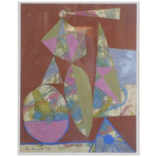 Leo Russel Gouache, Dated 1956 For Sale