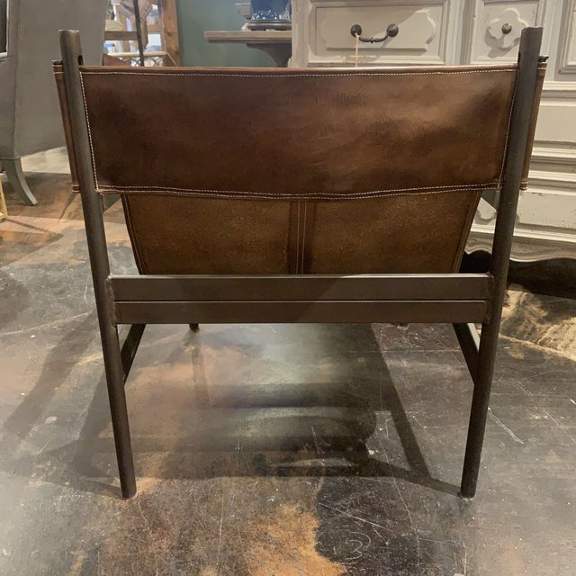Vachetta Coffee Leather Barcelona Chair by Cisco Brothers For Sale In Denver - Image 6 of 13