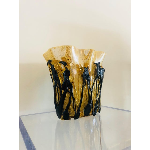 1960s Mid-Century Murano Glass Vase For Sale - Image 5 of 10