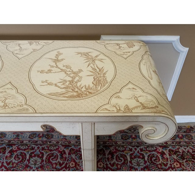 1980s Drexel Heritage White Asian Ming Alter Console Table For Sale In New York - Image 6 of 10