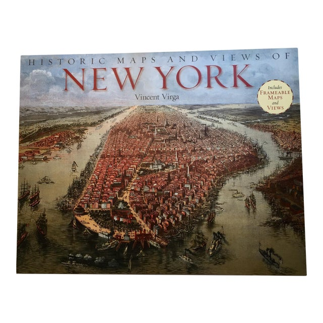 Historic Maps Views of New York Coffee Table Book For Sale