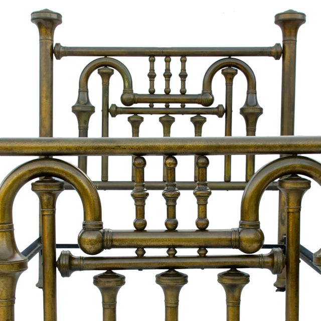 Late 19th Century 19th Century Brass Tuba Bed Frame For Sale - Image 5 of 11