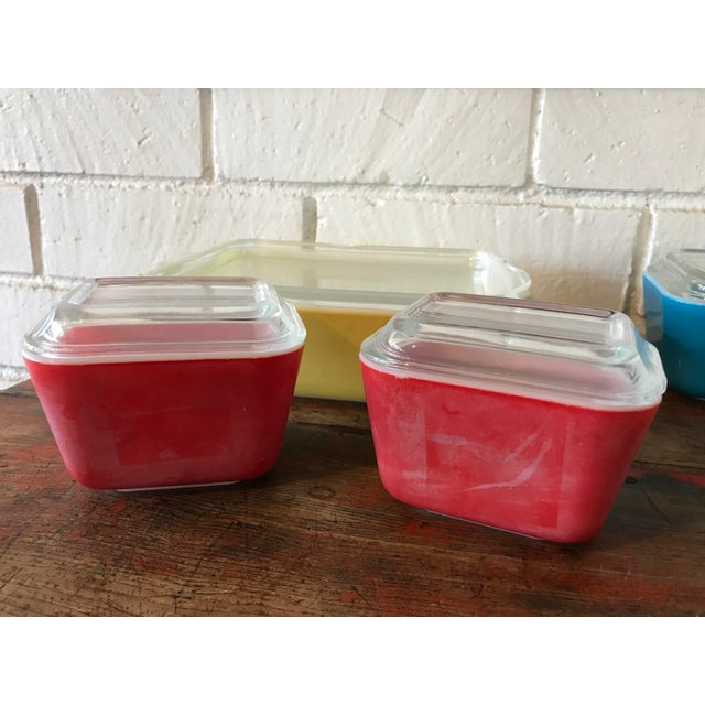 Blue Pyrex Primary Color Refrigerator Dishes - 8 Pcs For Sale - Image 8 of 10